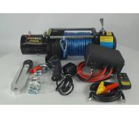 Лебедка электрическая 12V Electric Winch 12000lbs Съемный блок управления, синтетический трос.